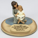 Show Me Your Ways, O Lord, Mom with Daughter Figurine