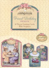 Tea Cups & Friends Birthday Cards, Box of 12