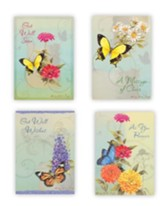 Butterflies Get Well Cards, Box of 12