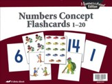 Homeschool Numbers Concept Flashcards 1-20