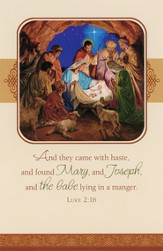 Nativity Gathering Christmas Cards, Box of 16