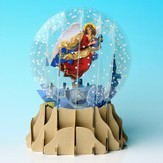 Pop-Up Snow Globe Greeting, Angel  - Slightly Imperfect