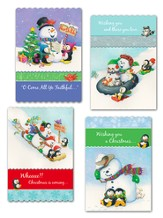 Snowman Fun Christmas Cards, Box of 12