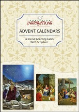 Nativity Advent Calendar Card, Box of 12