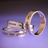 I am My Beloved's, Sterling Silver Ring, Gaelic, Size 9