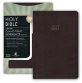 KJV Giant Print Reference Bible/Bonded Leather Burgundy