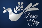Dove Peace and Joy Christmas Cards, Box of 16