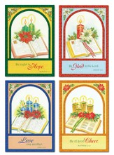 Bible and Candles Christmas Cards, Box of 12