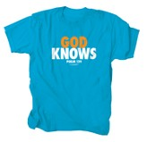God Knows Shirt, Turquoise, Large