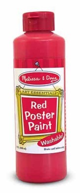 Red Poster Paint, 8 oz.