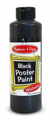 Black Poster Paint, 8 oz.