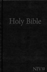 NIV Large-Print Holy Bible--hardcover, black