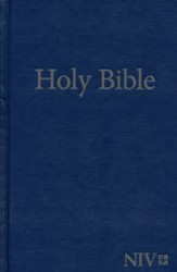 NIV Large-Print Holy Bible--hardcover, blue