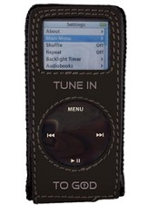 iPod Nano Case, Tune In To God, Black  - Slightly Imperfect