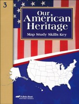 Our American Heritage Student Map Skills Key