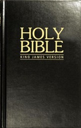 KJV Pew Bible - Black Hardback