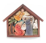 Holy Family Puzzle Creche