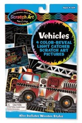 Scratch Art, Vehicles Color Reveal Light Catcher Pictures