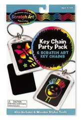 Scratch Art, Key Chain Scratch Art Party Pack