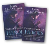 Twelve Unlikely Heroes, Softcover and Study Guide, 2 Volumes