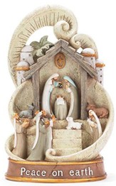 Peace on Earth Nativity Figurine