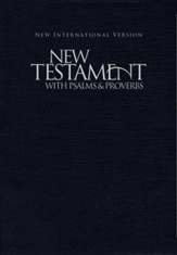 NIV New Testament with Psalms and Proverbs--softcover, blue