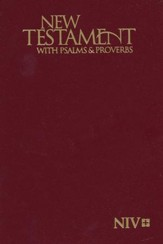 NIV Pocket New Testament, Psalms & Proverbs (Burgundy)