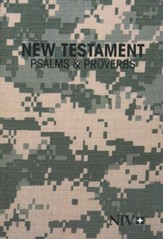 NIV New Testament with Psalms and Proverbs, Military Edition, Softcover - Slightly Imperfect