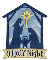 O Holy Night Door Hanger