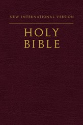 NIV Compact Bible--softcover, burgundy
