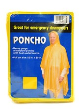 Poncho - Yellow- Adult one size fits all