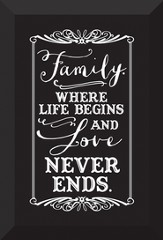 Family, Where Life Begins Plaque
