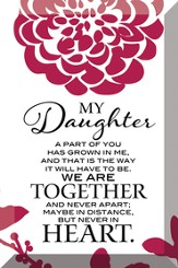 My Daughter Plaque
