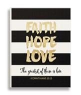 Faith Hope Love, Glitter Plaque