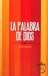 Biblia RVR 1977, Enc. Rústica Líneas Naranja  (RVR 1977 Outreach Bible - Orange Stripes, Softcover)