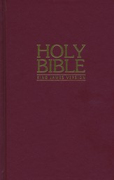 KJV Pew Bible - Red Hardback