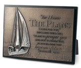 I Know the Plans Plaque, Sailboat