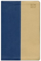 NVI / NIV Spanish/English Bible, Blue DuoTone Leather
