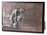 Football, I Can Do All Things, Mini Sculpture Plaque