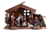 Nativity with Creche, 11 Piece Set