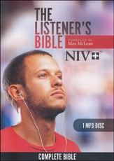 NIV Listener's Bible: Narrated by Max McLean, 1 MP3 Disc