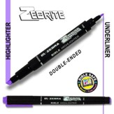 Zebrite Double End Marker, Purple