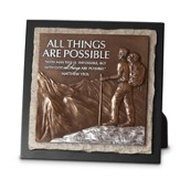 All Things Possible, Hiker Sculpture Plaque