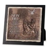 Jesus Being Baptized, New Life Sculptured Plaque