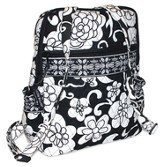 Quilted Mini Backpack, Psalm 103:5, Black and White