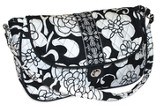 Quilted Purse with Handles, Psalm 118:24, Black and White