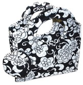 Quilted Purse with Loop Handles, 1 Chronicles 16:10, Black and White