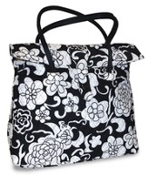 Quilted Purse, Joshua 1:9, Black and White
