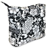Quilted Tote Bag, John 1:14,16, Black and White