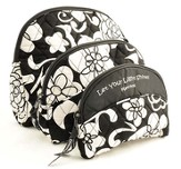 Quilted Cosmetic Bags, Matthew 5:16, Set of 3, Black and White